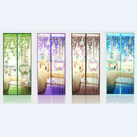 Love bird tirai motip burung magnetic magnet curtain anti nyamuk mesh