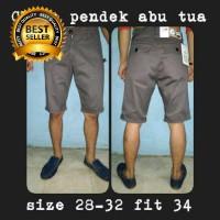 Celana Chino Pendek | Celana Cargo | Chino Mura Abu Tua | Grosir Celana Chin