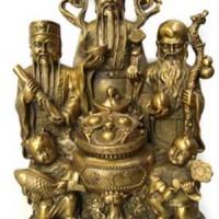 harga Pajangan / Patung / Patung 3 Dewa / Fu Lu Shou / Patung 3 Dewa 3246 Tokopedia.com
