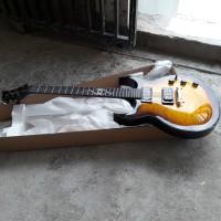 Gitar Elektrik Ethan hart EH2 tbs sunburst quilted Original