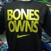 Tshirt/ Shirt/ T-shirt/ Kaos sablon Bones Owns Hitam