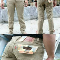 celana panjang jeans standar levis cream