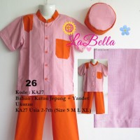 Baju Koko Anak Labella (Usia 2 - 7th) KA27-Orange No.26