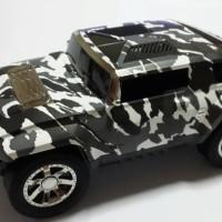 Speaker Mobil Model Hummer Armi Army Motif Tentara Unik Antik