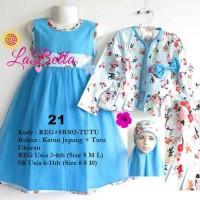 harga Dress gamis bolero anak labella 2-6th biru Tokopedia.com