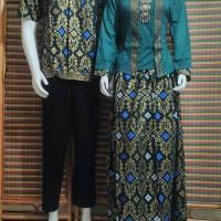 baju couple muslim/baju couple gamis BSG300 hijau