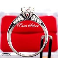 harga Cincin tunangan permata silver perak 925 kawin lamaran mewah CC206 Tokopedia.com