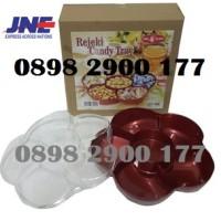 Toples Bunga 6 Sekat Rejeki Candy Tray OWL Plast CT 168 Toples Murah