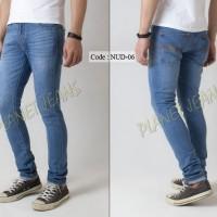 Celana Jeans / dry denim Nudie Model Skinny / Pensil Cowok / Pria - 06