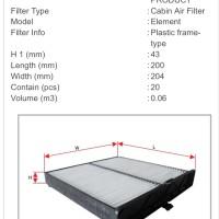 filter kabin / filter ac sakura mazda 2 skyactiv 2015 sd skrg