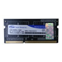 Team Elite 4GB DDR3L PC-1600 SODIMM Notebook Ram Low Voltage