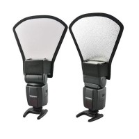 2in1 Universal External Flash Reflector & Diffuser - Silver/White