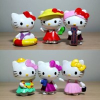 Jual Figure Hello Kitty Collection #2 set isi 6 Murah