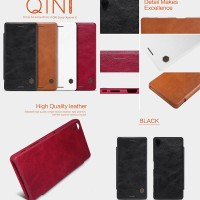 Sony Xperia X Nillkin Leather Case Armor Cover Casing Bumper Dompet
