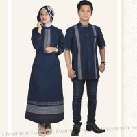 Couple Dress Wulan Blue - Baju Muslim Kualitas Premium Warna Biru