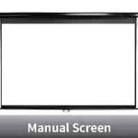 "Screen Projector Manual Wall Mount 70"" (1778x1778mm)"