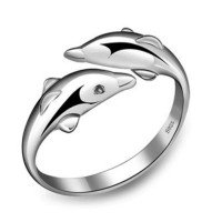 Cincin Wanita Dolphin Silver Ring Adjustable - Cincin Perak Asli S925