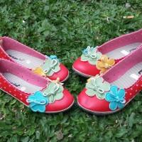 Jual Sepatu Couple mom and kid Red Flower Murah