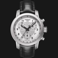TISSOT PRC 200 Quartz Chronograph Lady Black Leather 200M T055.217.16.