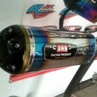 KNALPOT SLINCER HALF BLUE FOR MOTOR 4TAK