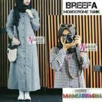 Jual atasan wanita baju muslim atasan breefa monocrome Murah