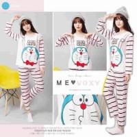 Jual Setelan Piyama Doraemon Pinky Stripe Murah