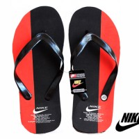 Grosir / Eceran, Sandal Pria, Sandal Jepit Nike Hitam Merah Spon Size 40