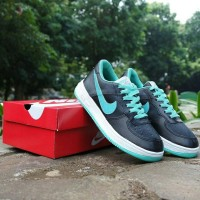 Sepatu Nike Air Force One Hitam Tosca Vietnam Grade Ori Cewek 36-40