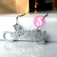 Kalung Nama Silver Grafir - Jenny