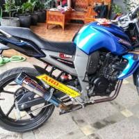 Knalpot Yamaha Byson Fs Akrapovic Gp M1 Blue (Pnp)