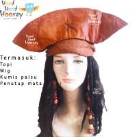 Jual Topi Bajak Laut/Cosplay Kostum/Topi Halloween/Pirate Hat/Wig Pirates Murah
