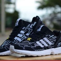 Sepatu Murah Pria Adidas ZX Fluk, Sport Running, Free Kaos Kaki