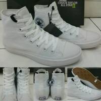 Sepatu Sneakers Converse All Star Chuck Taylor 2 Lunarlon High White