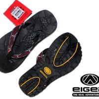Sandal Eiger Jepit Hitam Motif Merah Murah (Sandal, Jepit, Eiger, New)