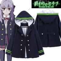 Owari no Seraph Shinoa Hiragi Jacket Jaket Anime Kostum Cosplay
