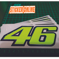 sticker cutting valentino rossi 46/sticker vr46 asesories motor