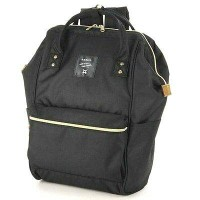 Tas Ransel Anello Handle Backpack Campus Rucksack - Black