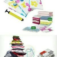 Jual Vacuum Bag Set Isi 6 + Pompa Tas Vakum Penyimpanan Pakaian Praktis Murah