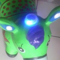 Mainan Anak , Kuda Sapi Kambing Karet Musik dan Lampu Suara Binantang