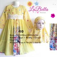 Baju Muslim/Gamis Anak Labella (Usia 3 - 6th) REG1MIX-CMR-Ceruti No.10