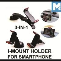 iMount 3 in 1 Car Handphone Holder Pegangan Hp Mobil