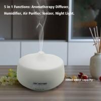 Ultrasonic Aroma Diffuser 300ml-berubah Warna- Auto Shut Off-putih