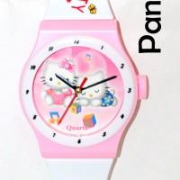 harga Jam Dinding (model Arloji Motif Hello Kitty Pink) Tokopedia.com