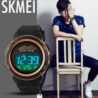 Jam Tangan Solar | SKMEI Solar Power Sport LED Watch W.R 50m 1096