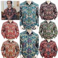 Kemeja Presiden Jokowi Batik Semi Sutera plus Furing Exclusive