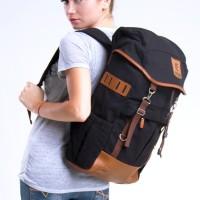 Mochilo Segundo Black | Tas Ransel Carrier Travel Pria Wanita Laptop