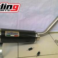 Knalpot Racing Fullsystem Leovice GP Corsa Carbon For Satria Fu, NVL, CB