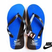 Sandal Jepit Nike Biru Hitam Spon Size 41 (Murah, Diskon, Slop, Nike