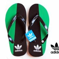 Sandal Jepit Adidas Hitam Hijau Spon Size 42 (Murah, Diskon, Slop, Nike