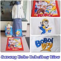 Sarung + Koko Boboiboy Biru (Size XL)